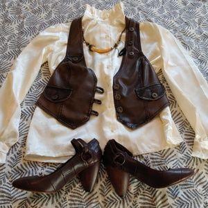 Edwardian vintage ruffled blouse